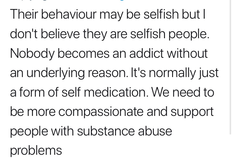 Are alcoholics just selfish